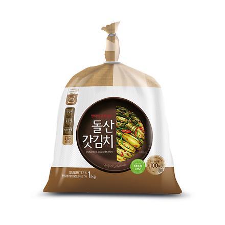 종가집 돌산 갓김치 1kg (암웨이 전용)
