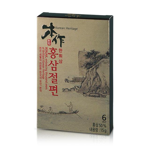 본작 한휘삼 홍삼절편 선물세트